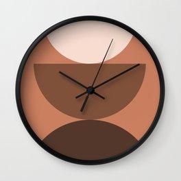 Abstraction_Mountains_Bohemian_Minimalism_004 Wall Clock