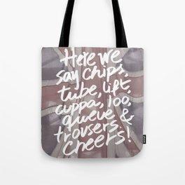 Here we say Tote Bag