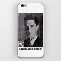 dale cooper iPhone & iPod Skins featuring Missing Dale Cooper ... 2016 by Allelujah