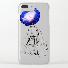 Whimsical walrus jell Clear iPhone Case