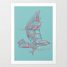 Wind-Up Bird (light) Art Print