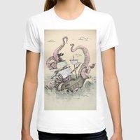 kraken T-shirts featuring Kraken by Stephanie Dominguez Art Shop
