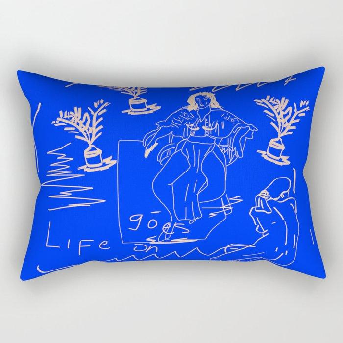 Life goes on Rectangular Pillow