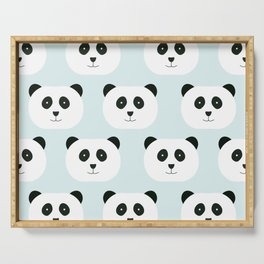 Panda Love- Mint Blue Serving Tray