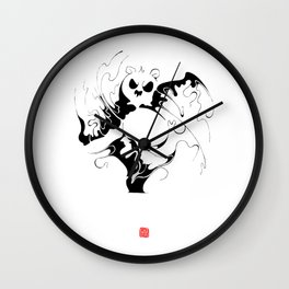 Panda fighting Wall Clock