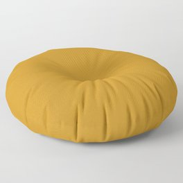 Golden Mustard Solid Color Pairs w/ Sherwin Williams 2020 Trending Color Auric Gold SW6692 Floor Pillow