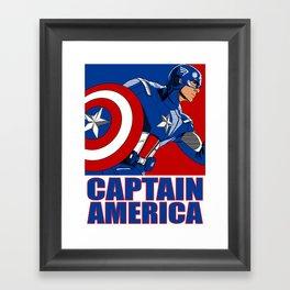 Captain 'merica Framed Art Print