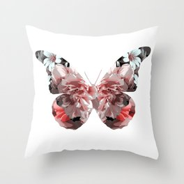 Floral butterfly. Throw Pillow