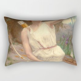 Guillamume Seignac Diana The Huntress 1870 Roman Mythology Goddess Of The Hunt Moon And Nature Rectangular Pillow