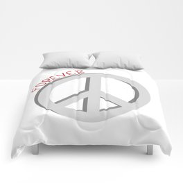 Forever peace symbol Comforters