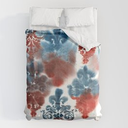 Damask: Red and Blue, Deteriorated Comforters