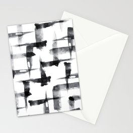 Abstract Brush Stokes Stationery Cards
