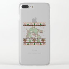 Hockey Goalie Christmas Clear iPhone Case