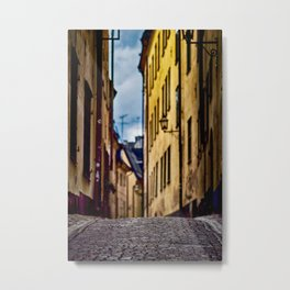 Street at Stockholm Metal Print