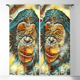 AnimalArt_Chimpanzee_20170602_by_JAMColorsSpecial Blackout Curtain