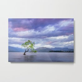 Wanaka Tree at Sunset Metal Print