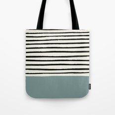 River Stone & Stripes Tote Bag