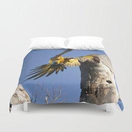 Birds from Pantanal Arara Canindé Duvet Cover