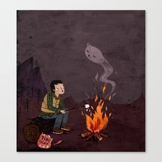 I got bad news for you, said the ghost. Canvas Print