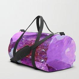 VIBRANT PURPLE AMETHYST CRYSTALS Duffle Bag