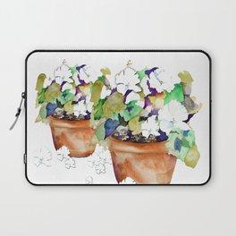 Pots of Petunias Laptop Sleeve