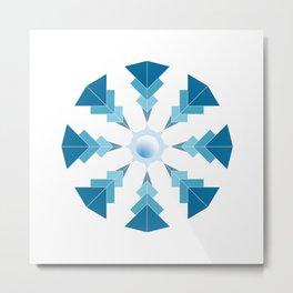 2 - blue mandala Metal Print