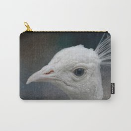 An Old Soul - White Peacock - Wildlife Carry-All Pouch