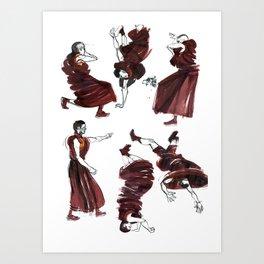 Breakancing Tibetan Monks Art Print