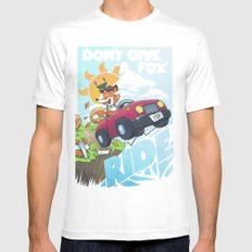 Don´t give a fox White MEDIUM Mens Fitted Tee
