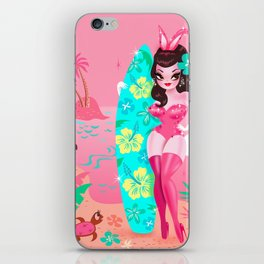 Hawaii Burlesque Festival Beach Bunny iPhone Skin