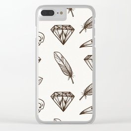 Crows of a feather Clear iPhone Case
