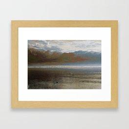 Yet another lake & mountain landscape | 1 Framed Art Print