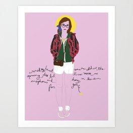 AMERICANA. Art Print