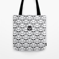 chad wys Tote Bags featuring The Dark One by Davies Babies