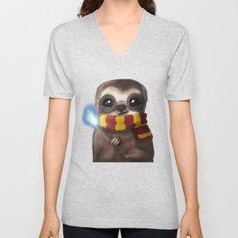 Hairy Potter Sloth Unisex V-Neck