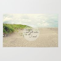 salt water Area & Throw Rugs featuring sunshine and salt water by Sylvia Cook Photography
