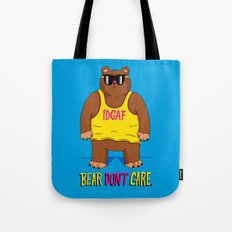 Bear Don't Care Tote Bag