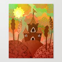 castle Canvas Prints featuring Castle by Ingrid Castile