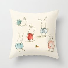 If Rabbits Wore Pants Throw Pillow
