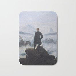 The wanderer above the sea of fog by Caspar David Friedrich Bath Mat