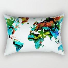 Design 95 World Map Rectangular Pillow