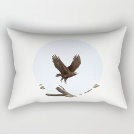 Wedge-Tailed Eagle (Aquila audax fleayi) Rectangular Pillow