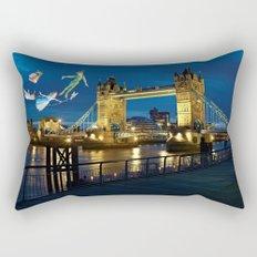 Peter Pan and the London Bridge Rectangular Pillow
