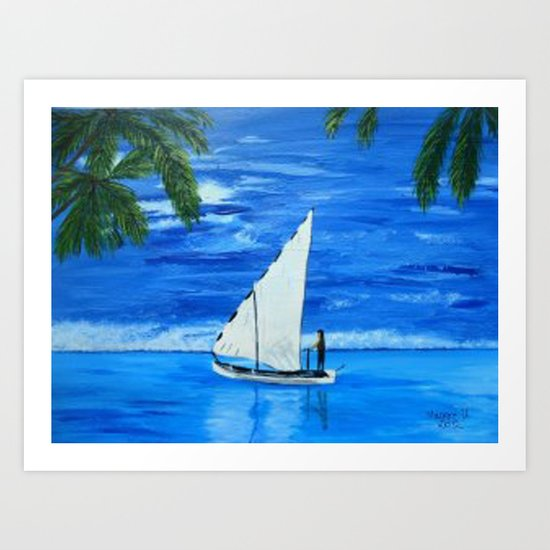 Sailing a way  Art Print