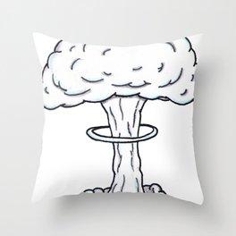 Endgame Mushroom Cloud Throw Pillow