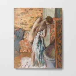 Edgar Degas - Naked lady. Après le bain Metal Print