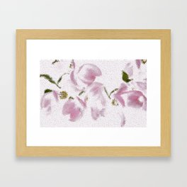 Dogwood Tree Flowers (stained glass-pink) Framed Art Print