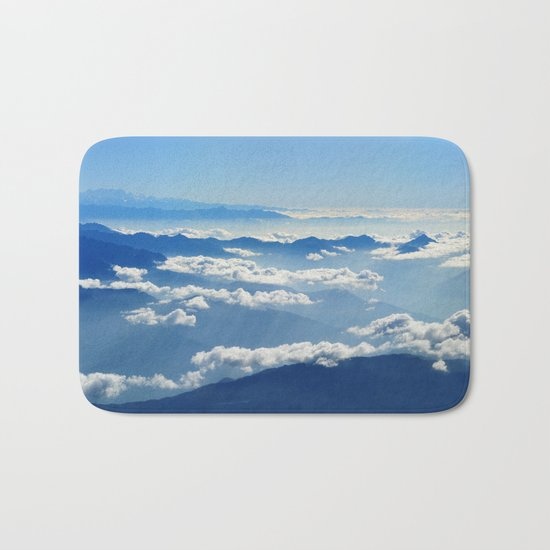 Mountains and Clouds in Nepal  Bath Mat