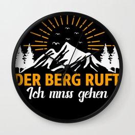 Bergwacht Edelweiß Mountain Rescue Wall Clock