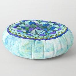 Star Mandala Ocean Floor Pillow